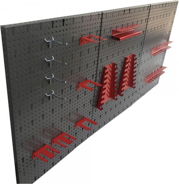 werkzeugwand lochwand werkstattwand werkstatt 3 lochw nde hakensortiment haken ebay. Black Bedroom Furniture Sets. Home Design Ideas