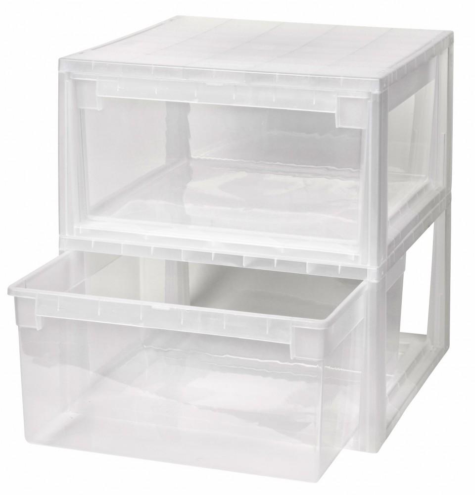 2 x schubladenbox schublade aufbewahrungsbox kleiderbox kommode unterbettbox l ebay. Black Bedroom Furniture Sets. Home Design Ideas