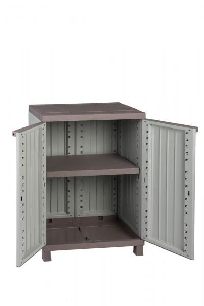 gartenschrank kunststoffschrank haushaltsschrank schrank mit holzdesign neu ebay. Black Bedroom Furniture Sets. Home Design Ideas