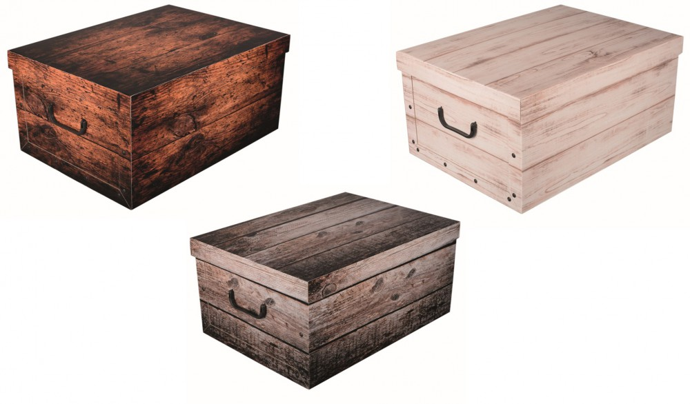 3 x dekokarton karton geschenkbox w schebox box schachtel in holzoptik 3 farben ebay. Black Bedroom Furniture Sets. Home Design Ideas