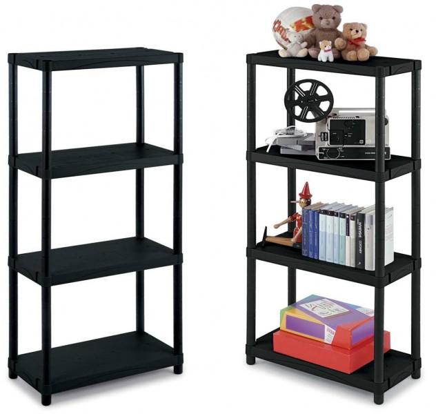2 st ck kunststoffregal haushaltsregal regal kellerregal plastikregal 60x30x132 ebay. Black Bedroom Furniture Sets. Home Design Ideas